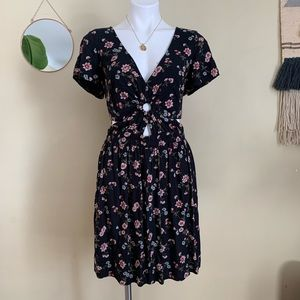 American Eagle Mini Floral Print Cut Out Dress